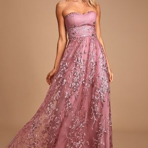 Lulus mauve maxi dress